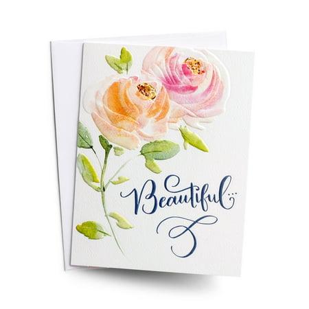 DaySpring  -  Happy Birthday - Beautiful - 3 Premium Studio 71 Cards (Dayspring Birthday Cards)