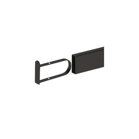 Black Flush End Cap for Dimensional Hangrail - Set of 2