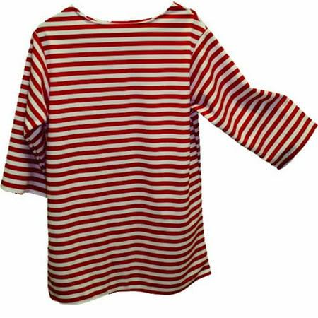Alexander Costume 22-227-R -Striped Shirt - Red, Medium