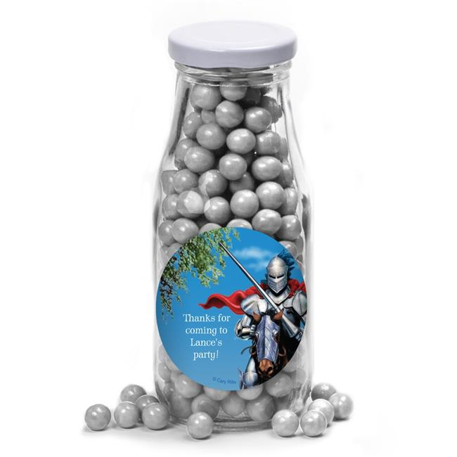 Costume Supercenter BB013808MB Medieval Knight Personalized Glass Milk Bottles