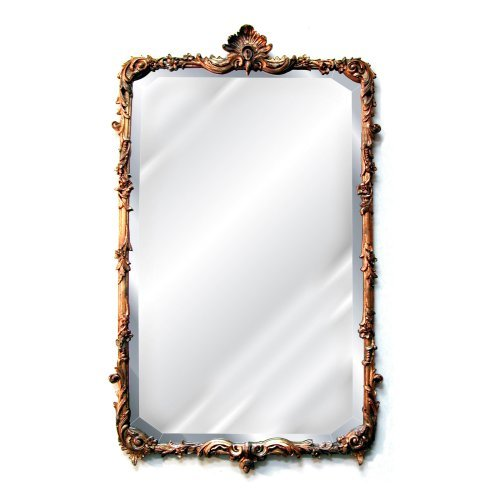 Hickory Manor House Shell and Flower Mirror - 26W x 43H in.