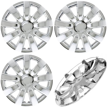 Cover Trend (Set of 4) CHROME Hub Caps Fits 2000-2005 TOYOTA CAMRY Replica 15