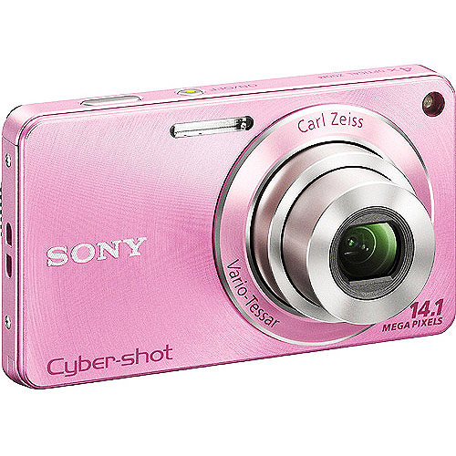 "Sony Cyber-shot W350 Pink 14.1MP Digital Camera, 4X Optical Zoom & 2.7"" LCD"