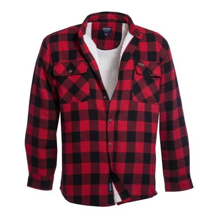 Men's Sherpa Lined Cotton Flannel Shirt Jacket Cal Golden Bears Mens Jacket
