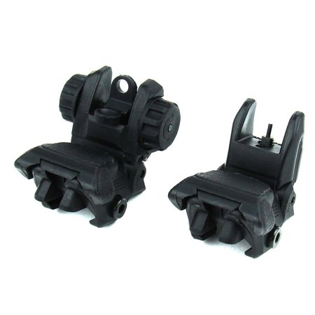 Ledsniperblack Polymer Smart Flip-up Back-down Front and Rear Sight Combo Set, Constructed of High Quality Polymer By Ledsniperus seller from