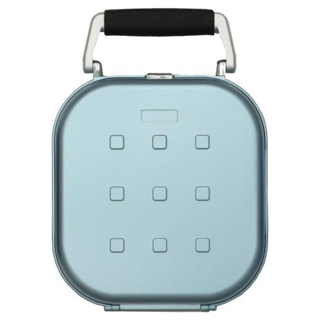 Hipce CDH-24 MB Plastic Portable CD Case, Metallic Blue - 24 Capacity