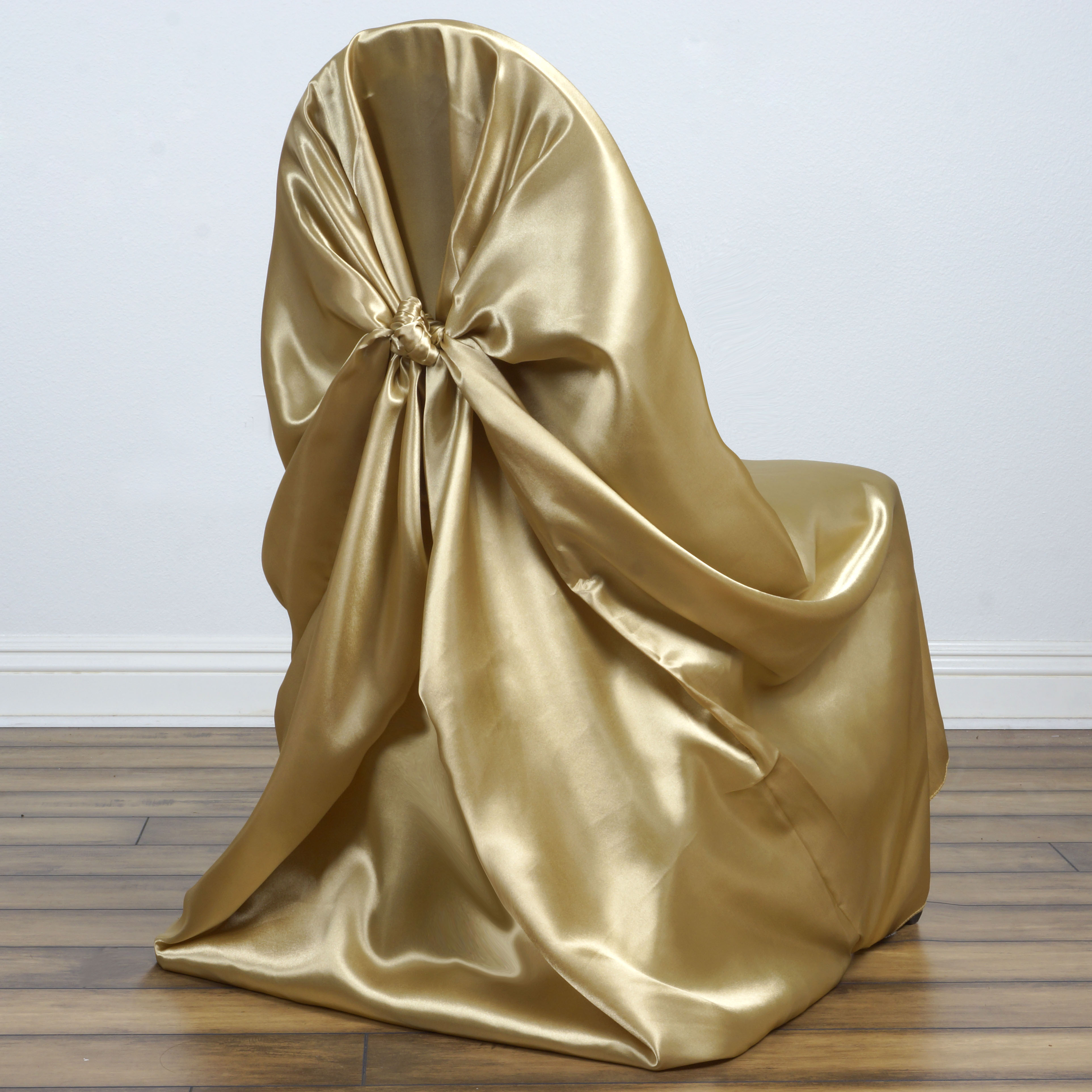 BalsaCircle Universal Satin Chair Covers Slipcovers for Party Wedding Ceremony Reception Decorations