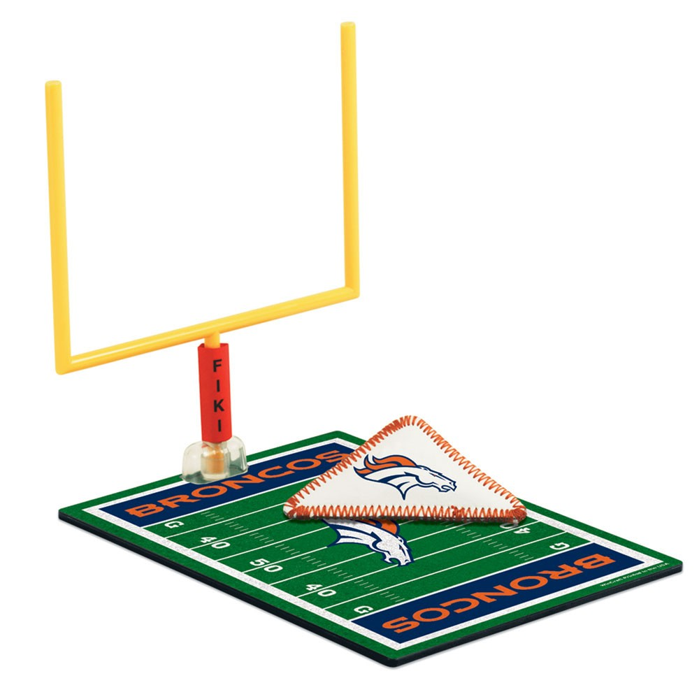 Denver Broncos Official NFL 5 inch x 7 inch  Finger Football Game by Wincraft
