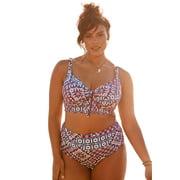 Swim 365 Women's Plus Size Longline Bikini Top