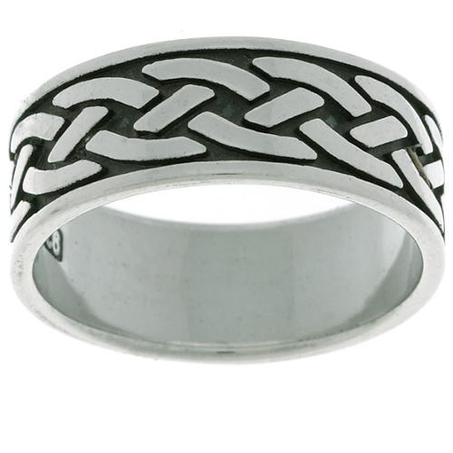 Jewelry Trends Sterling Silver Traditional Celtic Ring Size 5