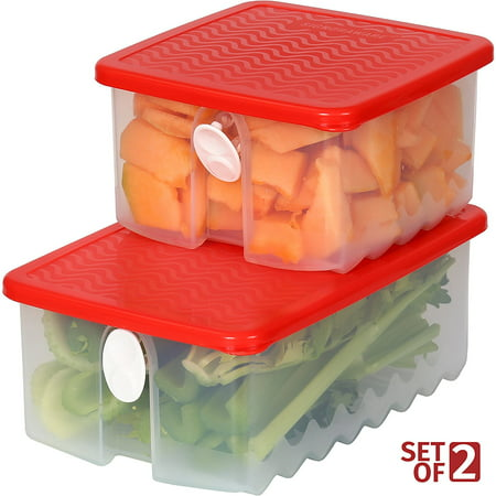 Fresh Fruit and Vegetable Food Keeper Saver Storage Container with Air Vented Lids – Dishwasher, Freezer, Refrigerator-Safe – 100% Food-Safe, BPA-Free Plastic Organizer - Durable Seal – Meal Prep](Halloween Food Ideas With Fruit)