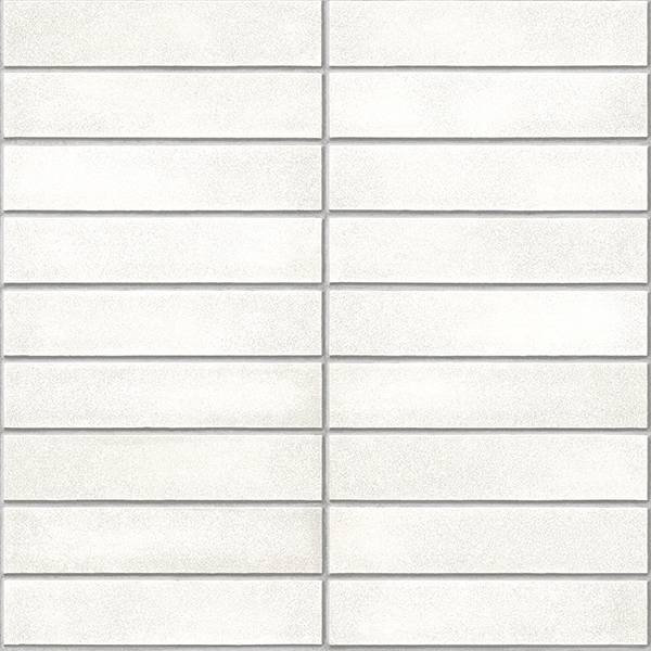 NuWallpaper White Mid-Century Brick Peel & Stick Wallpaper