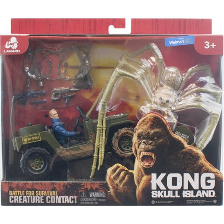 KONG SKULL ISLAND - BATTLE FOR SURVIVAL CREATURE CONTACT - SPIDER WITH JEEP AND FIGURE