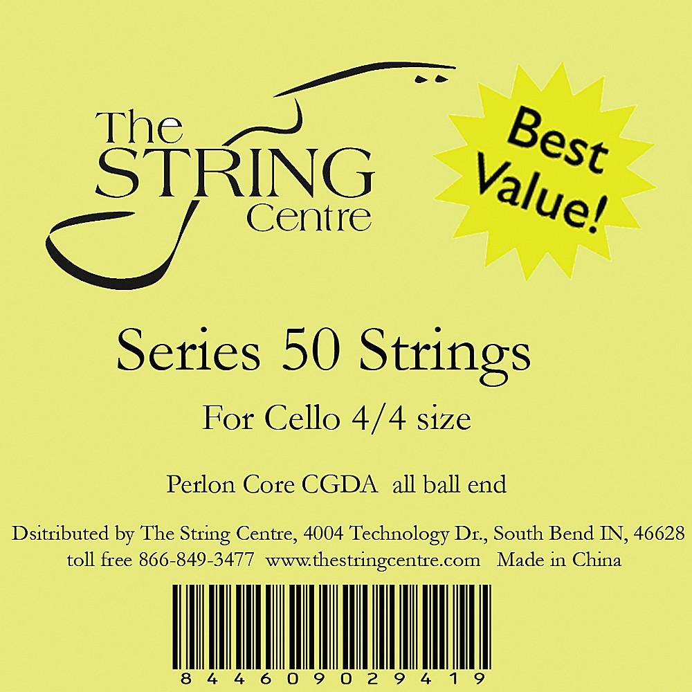 The String Centre Series 50 Cello String Set 3 4 Size by The String Centre