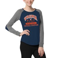 Virginia Cavaliers Women's 2019 NCAA Men's Basketball National Champions Preppy Patch Long Sleeve T-Shirt - Navy