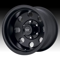 Baja, 16x8 with 5 on 5.5 Bolt Pattern - Satin Black - AR1726885B