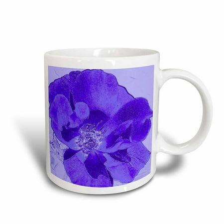3dRose Deep Purple Spiritual Floral Flowers Designs Inspired by Nature, Ceramic Mug, 15-ounce (Floral Design Ceramic)