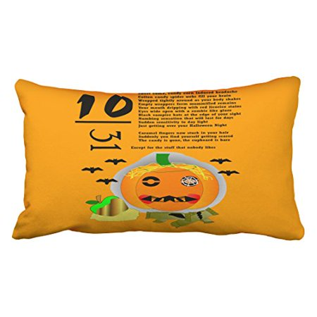 WinHome Halloween Hangover Throw Pillow Covers Cushion Cover Case 20X30 Inches Pillowcases Two Side