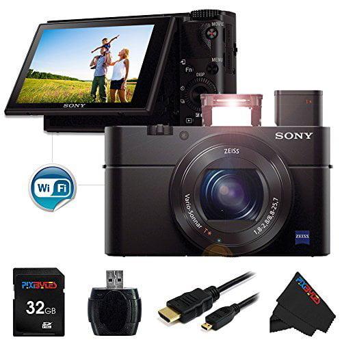 Sony DSC-RX100 Mark III Cyber-shot Digital Still Camera + 32 GB Pixi-Basic Accessory Bundle