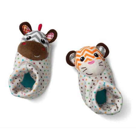 - Infantino Foot Rattles, Zebra & Tiger