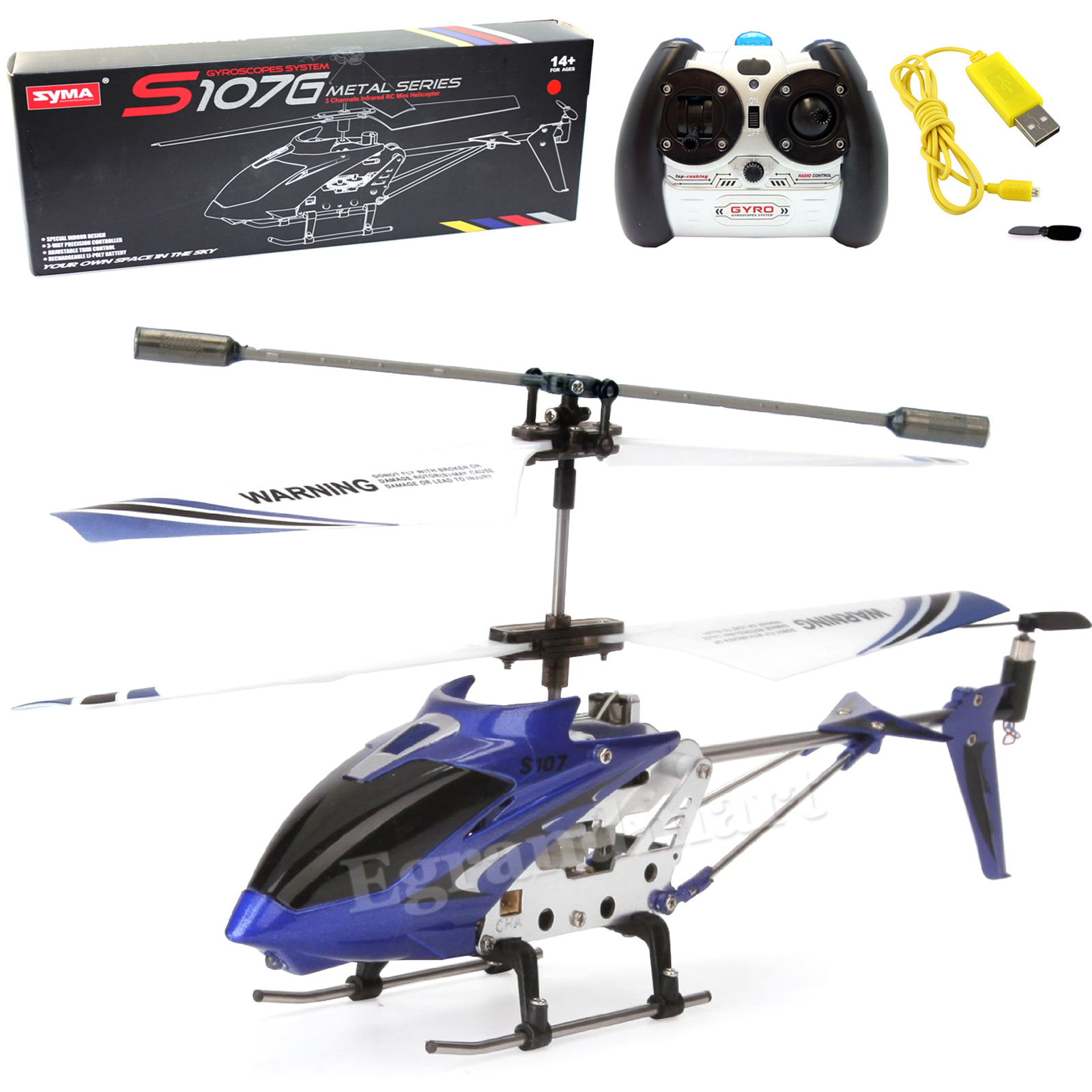 Syma S107/S107G Phantom 3CH 3.5 Channel Mini RC Helicopter with Gyro