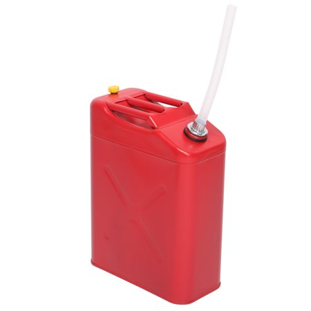 Zimtown Portable 5 Gallon Petrol Jerry Can with Spout, 20L 0.6mm Cold Rolled Steel Gasoline Fuel Container Caddy Tank, for Emergency Backup (Red) Jerry Can Carrier