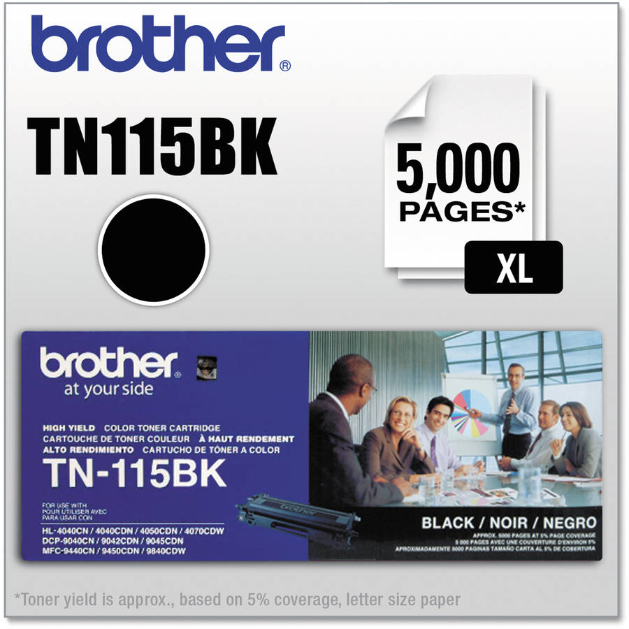Brother TN115BK High Yield Black Toner Cartridge