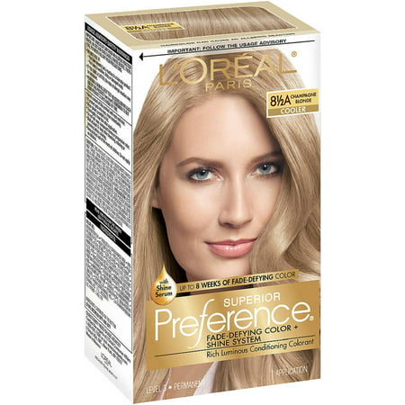 L'Oreal Paris Superior Preference Fade Defying Color + Shine System, Champagne Blonde (Cooler) [8.5A] 1