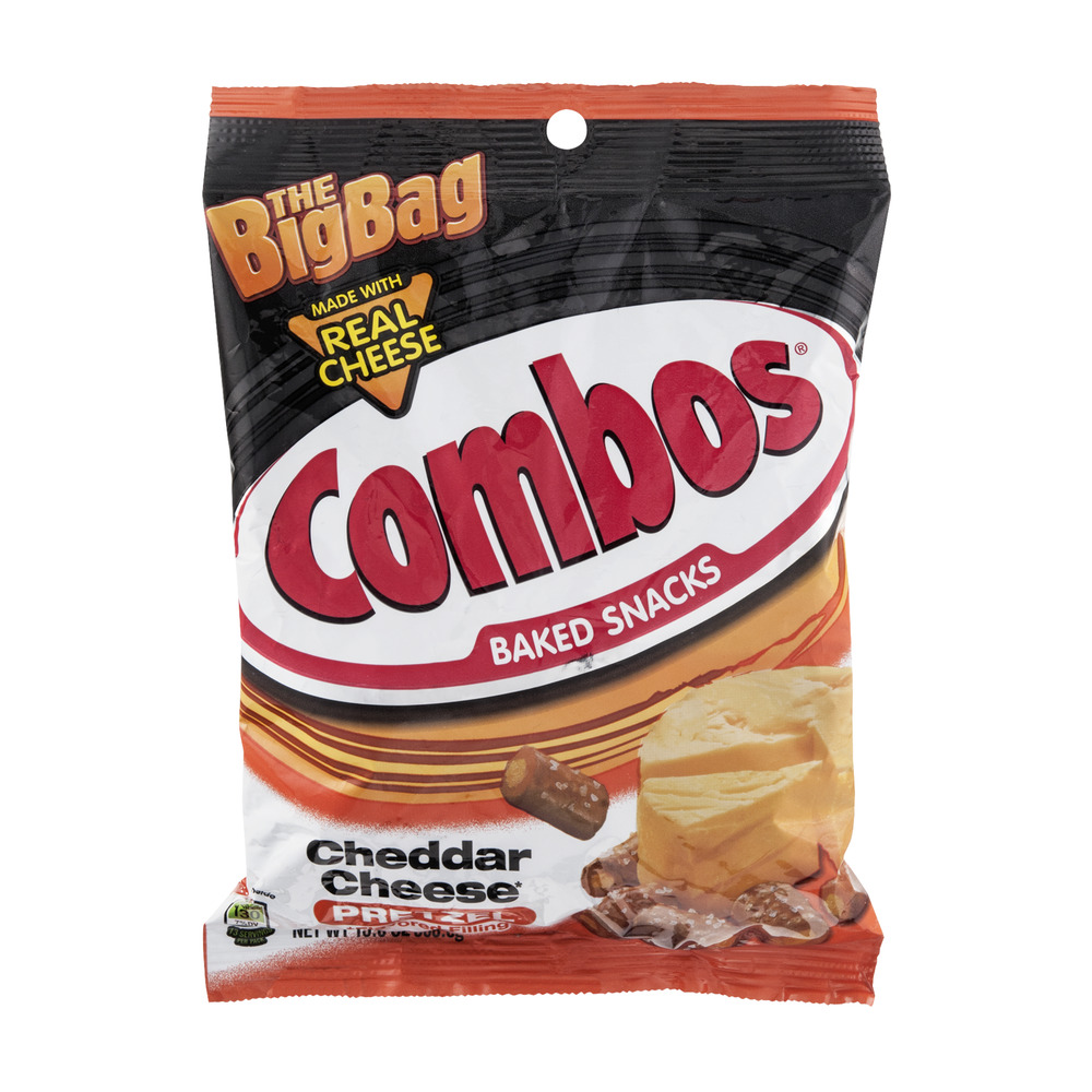 Combos Baked Snacks Cheddar Cheese Pretzel The Big Bag, 13.0 OZ