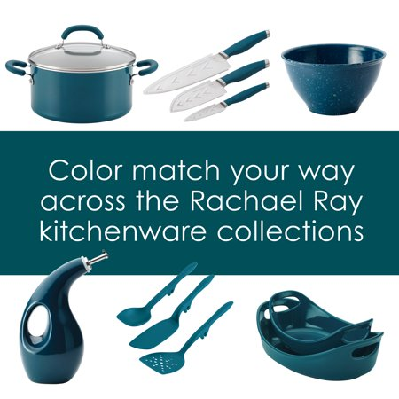 Rachael Ray 6-Piece Tools and Gadgets Nylon Nonstick Tools Set, Marine Blue