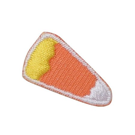 Corn Applique (Small/Mini - Piece of Candy Corn - Iron on Applique/Embroidered Patch )