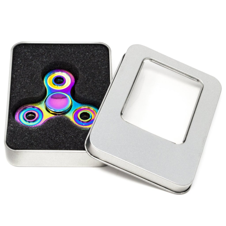 lux accessories rainbow trendy kids adult toy tri fidget spinner hand spinner. Black Bedroom Furniture Sets. Home Design Ideas