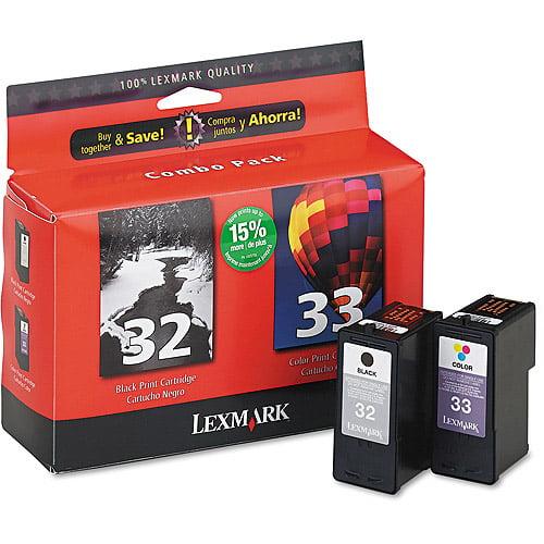 Lexmark 32/33 Black & Color Print Cartridges
