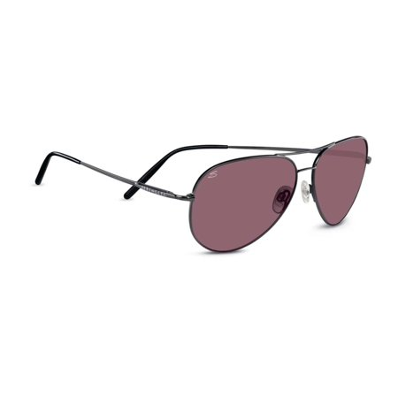 Serengeti Classic Sunglasses - Serengeti Sunglasses Med. Aviator 8088 Shiny Gunmetal Polarized Sedona Lens