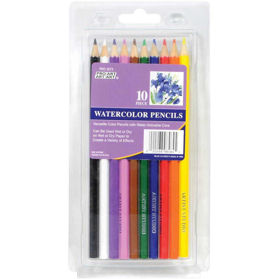 Proart Watercolor Pencil Set, 10pc