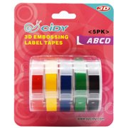 Replacement For DYMO MOTEX 3D Label Maker Manual Embossing Refill Tape Set Printer Ribbon 9mmx3m