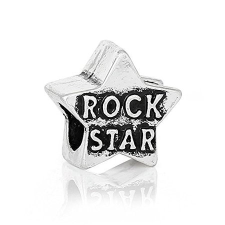 Buckets of Beads Rockstar Charm Beads Fits Most Major Charm Bracelets For Women Girls (Rockstar Party)