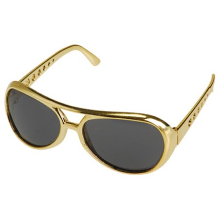 Elvis Presley Sunglasses Costume Gold Glasses King Rock And Roll Las Vegas Star