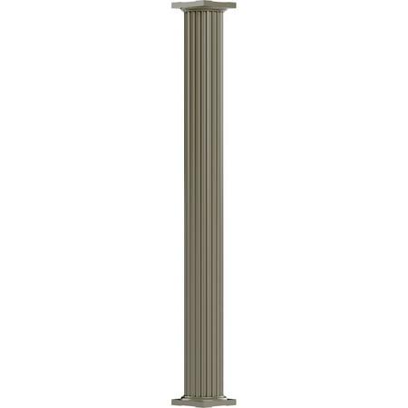 12 x 8 Endura Aluminum Column Round Shaft For Post Wrap Installation