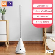 Xiaomi Mijia Leshow Smart Bladeless Standing Fan SS4 Intelligent Leafless Pedestal Fan 11 Speed Wind Timing Household Air Cooler with Mi Home APP Remote Control