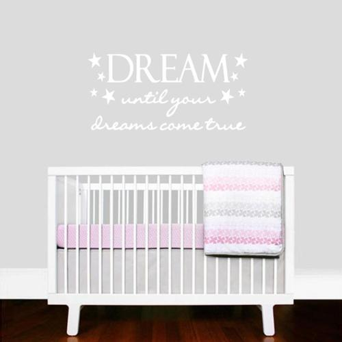Sweetums Dream Until Your Dreams Come True Wall Decal (22-inch x 11-inch)