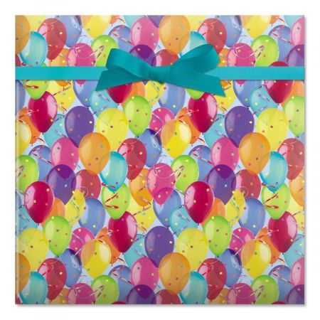 Photo Balloons Birthday Rolled Gift Wrap - 72 sq. ft.