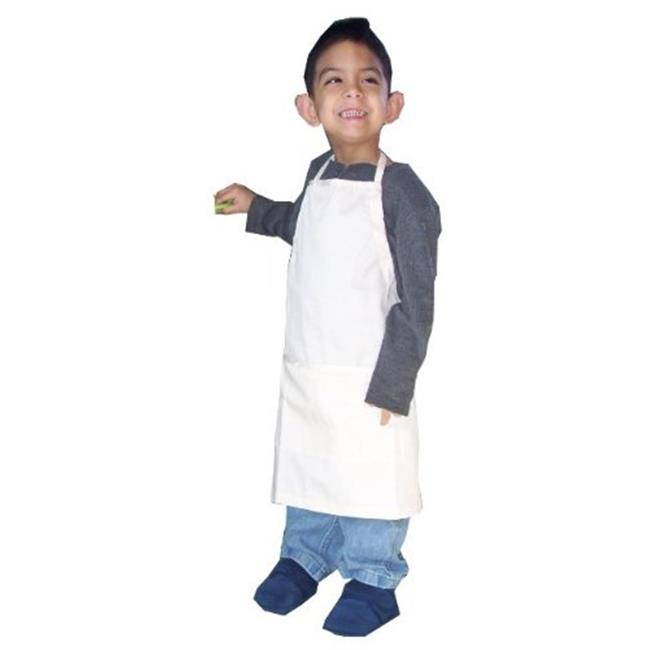 Image of A Greener Kitchen AP019 Boys Organic Cotton Apron - Natural Twill