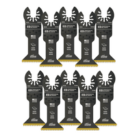 """Imperial Blades IBOAT240-10 ONE FIT 1-3/4"""" Titanium Enhanced Smooth Cut Wood Oscillating Saw Blade, Multi-Tool Accessory, 10PK"""
