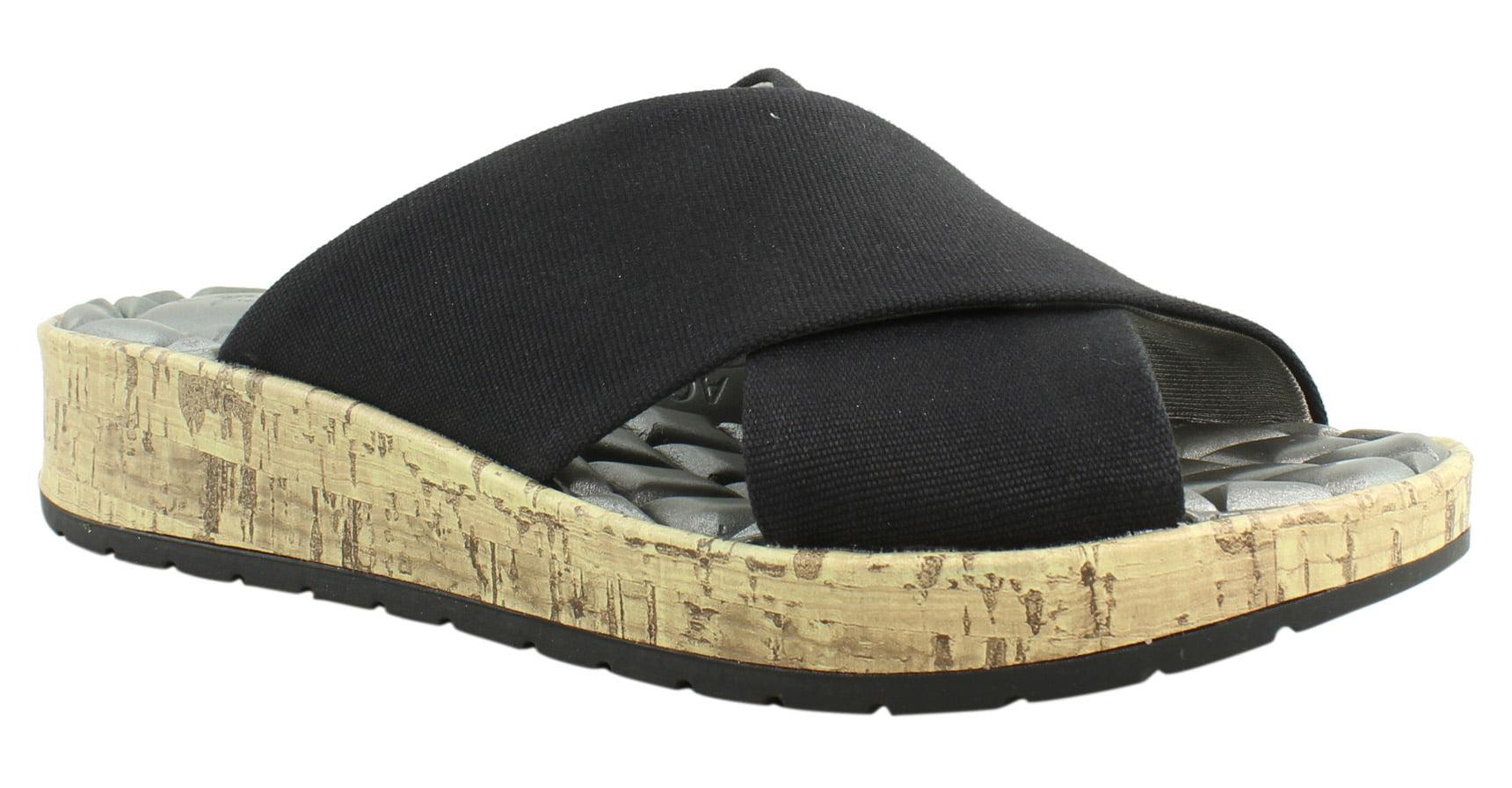Lifestride Womens Black Slide Sandals Size 6 New by LifeStride