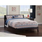 Atlantic Furniture Orlando King Platform Bed with Open Foot Board in Espresso