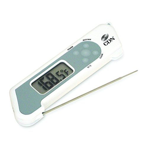 TCT572-W ProAccurate Folding Thermocouple Thermometer, 1.5 mm Thin Tip, 4.25 Sensor Length, NSF Certified, Water Resistant, Food Safe ABS Plastic with Biocote, Field Calibration, White