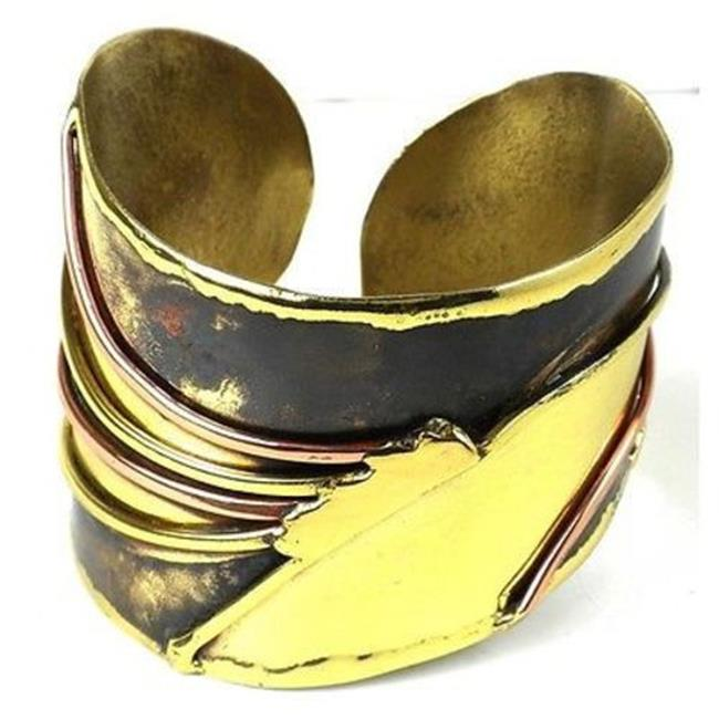 Brass Images Handcrafted Brass & Copper Sunrays Cuff