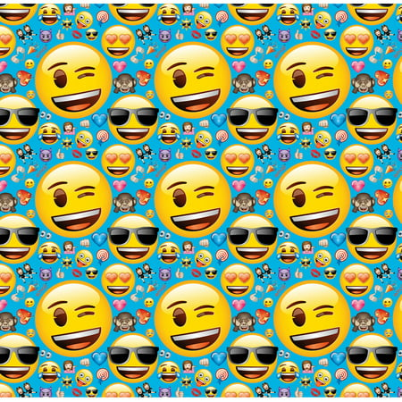 Emoji Wrapping Paper, 5 x 2.5 ft, 1ct for $<!---->