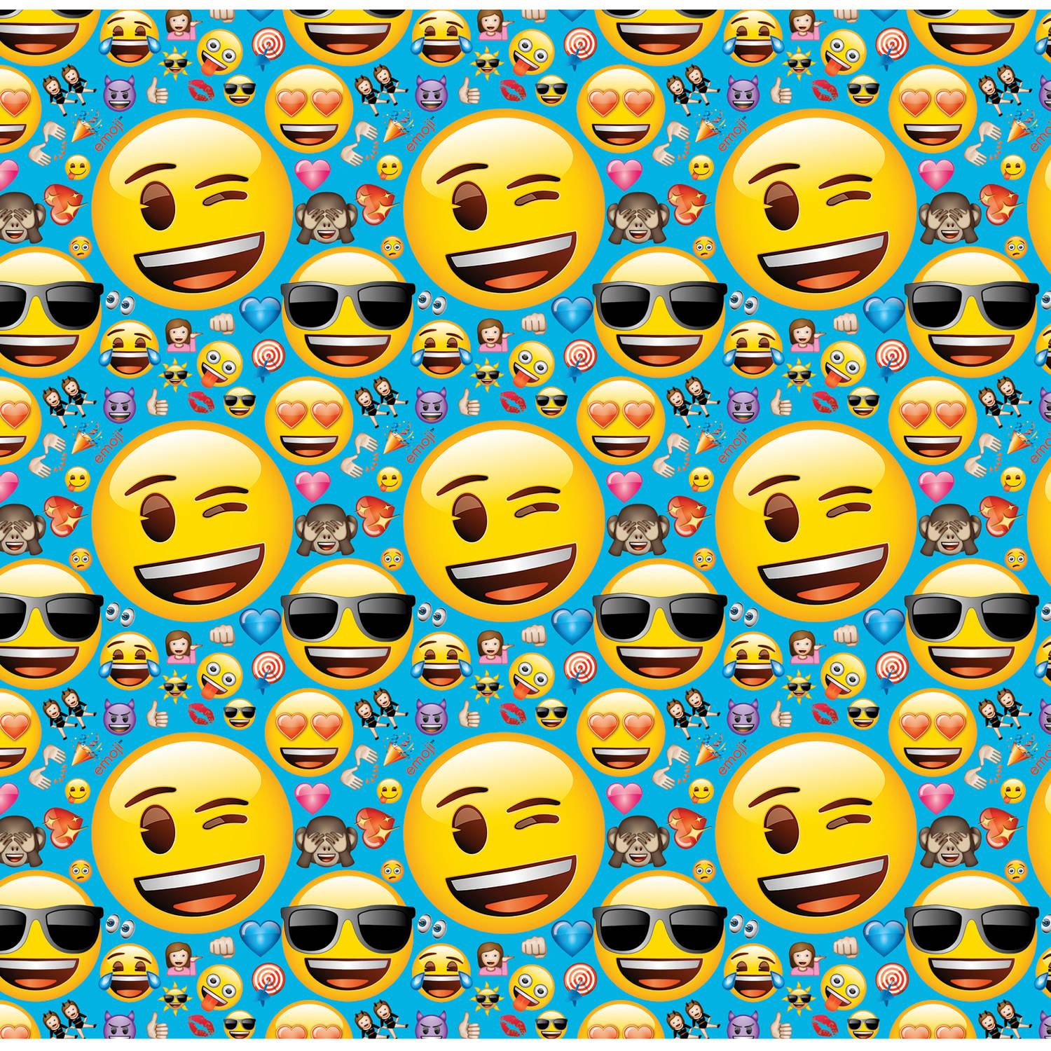 Emoji Wrapping Paper, 5 x 2.5 ft, 1ct